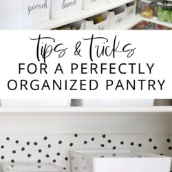 Tips & Tricks for a Perfectly Organized Pantry