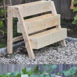 DIY Tiered Strawberry Planter #DIY #diygardenbox #Planter #Strawberry #Tiered